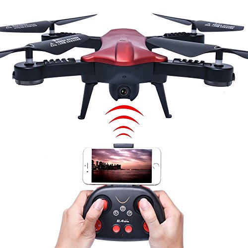 PowerLead WIFI 720P HD Camera FPV Quadcopter 2.4GHz 6 Axis Gyro RC Quadcopter With Camera Foldable Arm Altitude Hold Pocket Drone