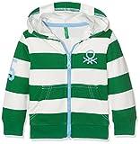 United Colors of Benetton Jungen Kapuzenpullover Jacket Wforwardslashhood L/s, Grün (Green/White), 2 Jahre (Herstellergröße: 2Y)