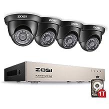 zosi DVR Kit 8CH Full 960H DVR Enregistreur réseau HD avec Lot de 4900TVL longue nuit Vision Extérieur Dôme Caméra de surveillance système de sécurité caméra de vidéosurveillance avec disque dur 1To