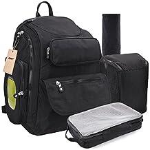 Cambio mochila bolsa de bebé pañales para pañales ligero impermeable grande viaje mochila cambiador Premium Oxford correas para el carrito Hombres Ladies