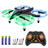 GEEKERA Mini Drone, RC Quadcopter Children Toys with LED Lights Altitude Hold One