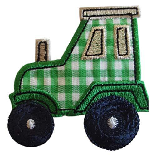 TrickyBoo 2 Aufbügler Traktor 7X7cm Kuh 8cm High Set Aufnäher Flicken Applikationen zum Ausbessern von Kinder Kleidung mit Design Zürich Schweiz für Deutschland und Österreich