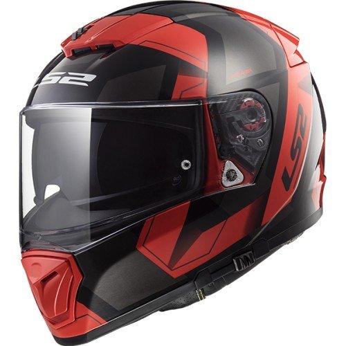 LS2 Casco Moto Breaker Physics, Nero/Rosso, S