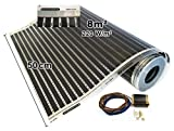 Calorique Infrarot Heizfolie Elektrische Fußbodenheizung 50 cm Set 220 W/m² 8,0 m² - effiziente und kostengünstige Heizung für Neubau oder Altbau-Sanierung