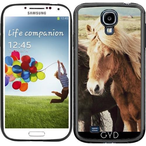 SilikonHülle für Samsung Galaxy S4 (GT-I9500/GT-I9505) - Schöne Pferd Tier by WonderfulDreamPicture (Wild-tier-silhouette)