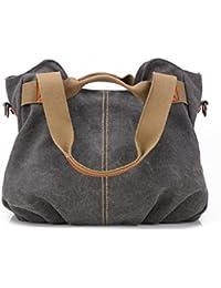 da84032483ae7 Frauen Damen Leinentaschen Segeltuch Taschen Lässige Vintage Hobo Leinwand  Multi-Pocket täglich Geldbörse Messenger Top Griff Schulter…
