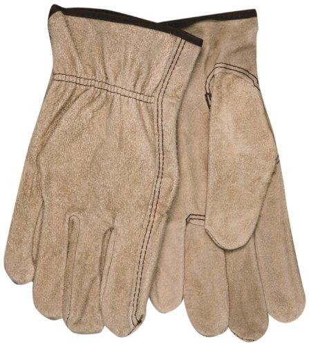 MCR Sicherheit 3130l Regular Grade Kuh Split Leder Treiber ungefüttert Herren Handschuhe mit Keystone Daumen, braun, große, RJ45 - Treiber Keystone