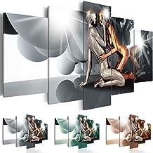 murando Cuadro en Lienzo 200x100 cm ! Tres colores a elegir - 5 Partes - Formato Grande - Impresion en calidad fotografica - Cuadro en lienzo tejido-no tejido - Persona Coppia Amor h-A-0046-b-n 200x100 cm