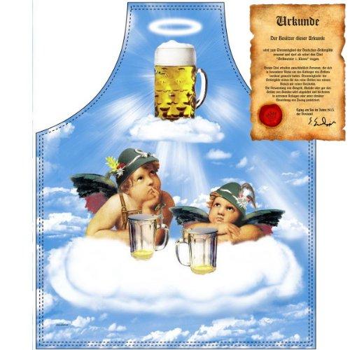 Cocktailschürze: 2 Engel im Bierhimmel für die nächste Party die passende Schürze damit das Bier läuft mit GRATIS Urkunde