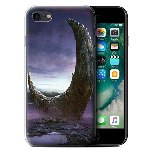 Offiziell Chris Cold Hülle / Gel TPU Case für Apple iPhone 7 / Chaos Entfesselt Muster / Fremden Welt Kosmos Kollektion Zerbrochenen Mond