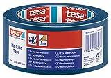 Tesa 60760 Markierungsband zur Bodenmarkierung und Abtrennung, 50mmx33m, Blau
