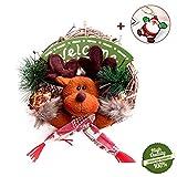 Morbuy Weihnachtskranz Türkranz, Weihnachtsdekoration Innen Außen Deko Hänger für Weihnachten Festen Hochzeit Party Haus Terrasse Rasen (Elch)