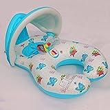 Mit Vorzelt PVC Doppel Mutter Ring 1-3 Kleinkinder Schwimmen Schwimmen Ring gepolstert abnehmbarer Kindersitz
