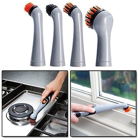 JML Turbo Brush 4 pezzi di ricambio Pulitore sonico ad alta potenza pulizia di precisione Cucina, Bagno, gioielli per pulizia Confezione sostituzione
