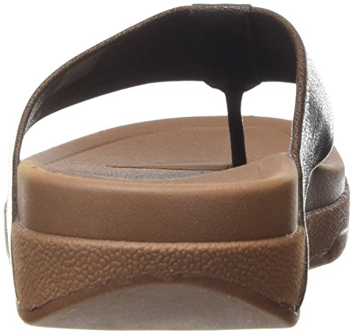 FitFlop Surfer Leather Herren Plateausandalen Brown (Chocolate Brown)