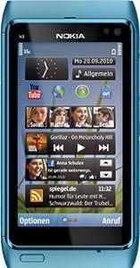 Nokia N8 Smartphone (8.9 cm (3.5 Zoll) Display, Touchscreen, WiFi, 12 Megapixel kamera) blau