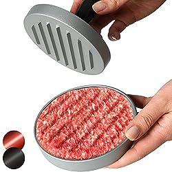 Hamburger-Presse in schwarz oder braun + Größenwahl Hamburgerpresse (für 1 oder 2 Burger) Ø 11,5cm