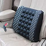 LuvBellsTM Car Seat Comfort Cushion with Electric Vibration Motor Massage (White Line)