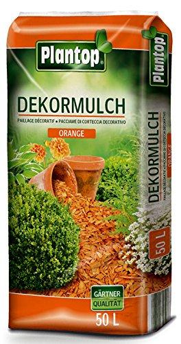 Rindenmulch Dekor 50 Liter Orange Deko Mulch Garten Dekormulch Plantop