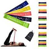 CIVAH resistance loop bands natural latex exercise band workout for hysical therapy pilates yoga rehab sport fitness belt set of 5