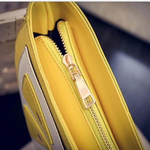 BZLine® Frauen gelbes Obst Paket Kette Orange Umhängetasche Messenger Taschen Süße Sommer-Beutel Gelb