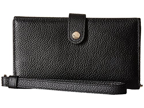 COACH Women's Polished Pebble Phone Wristlet Li/Black One Size