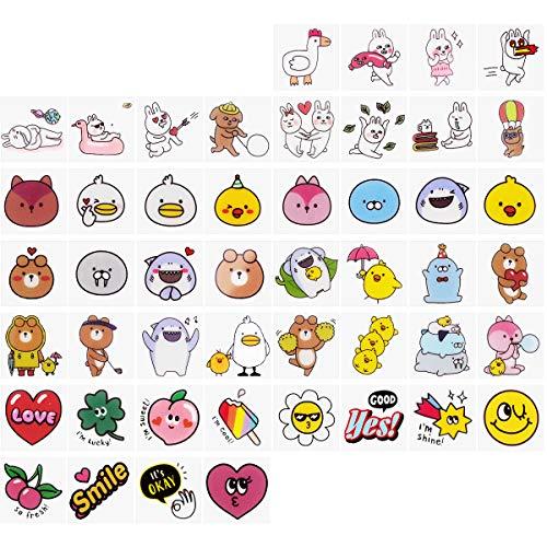 X-Mile Stickers für Kinder Cartoon Dekoration Aufkleber 144 Stück Mini selbstklebende Aufkleber Wasserdicht Kratzfest Einfache Verwendung Geschenk für DIY Verschönern Notebook Handwerk