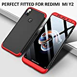 #1: MOBICLONICS 360 Degree Double Dip Premium Shockproof Back Cover Case for Xiaomi redmi Mi Y2 (Red+Black)