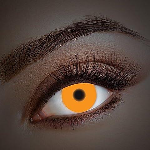 UV Lentes de contacto coloreadas Orange Fire de Aricona – que cubren las lentes años para los ojos oscuros y claros, sin receta, la lentes de color para el carnaval, temático noche y disfraces de