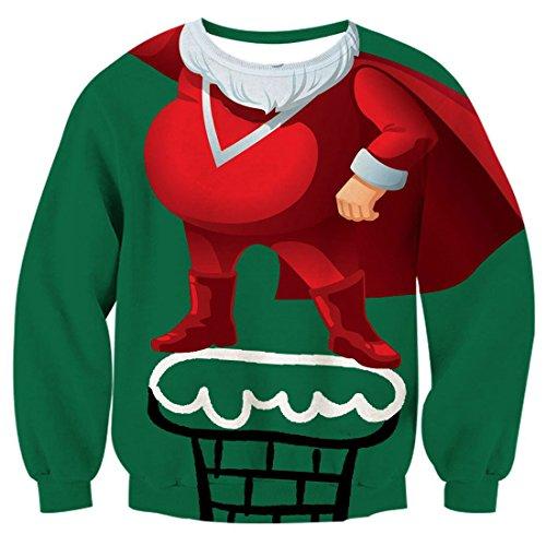 BFUSTYLE Saluti unisex 3D di natale stampato La maglietta felpata del bicchierino della bottiglia di Natale di Drawstring Santa