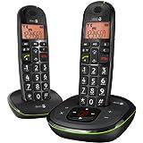 Doro Phone Easy 105WR téléphone fixe sans-fil Noir (Pack Duo)