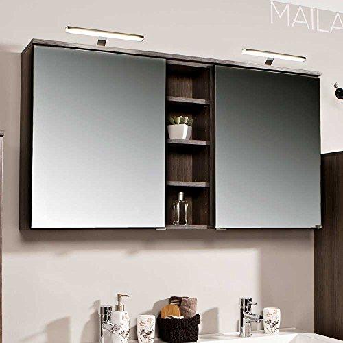 #Badezimmer Spiegelschrank in Eiche dunkel 120 cm Pharao24#