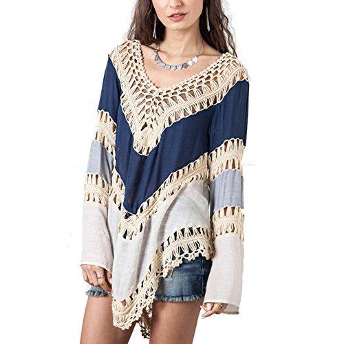 gaxmi-womens-summer-bohemian-colorblock-hollw-out-long-sleeve-bikini-cover-up-blue-with-ethnic-earri