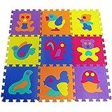 Alfombra Puzle para Niños | en Espuma EVA | 9pz Alfombra Infantil para Jugar | con Diseños de Animales Desmontables by CASCACAVELLE