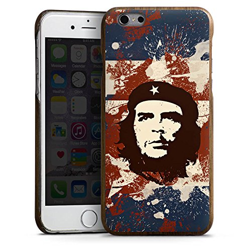 Apple iPhone 6 Holz Hülle Case Handyhülle Che Guevara Revolution freiheit Holz Kevlar Case Walnuss