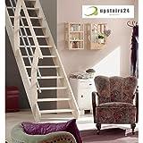 Escalier gain de place en épicéa massif - Living...