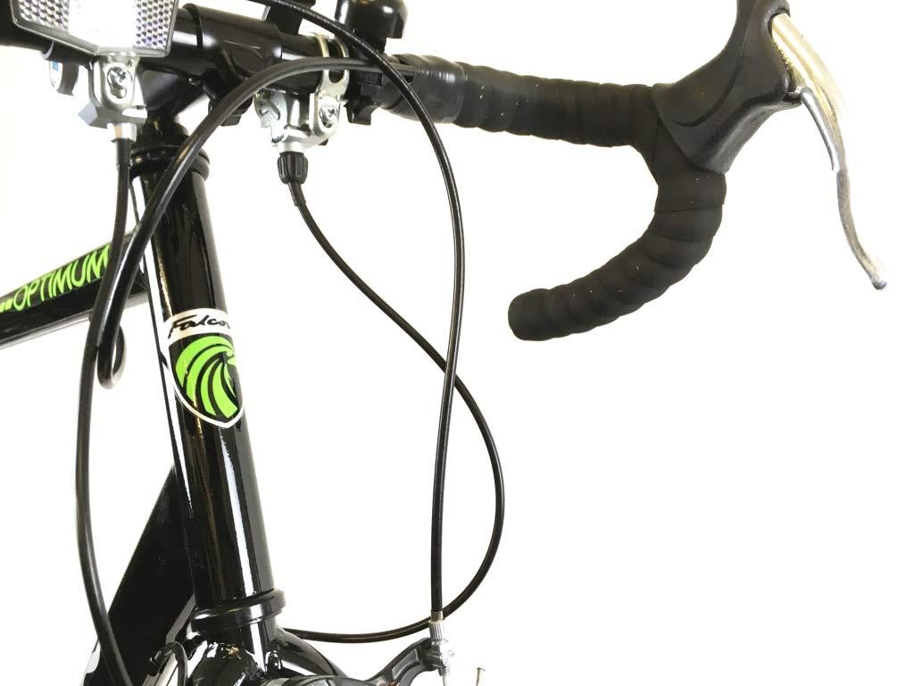 51Z40sBtHGL - Falcon Optimum Mens Road Racing Bike - Black/Green