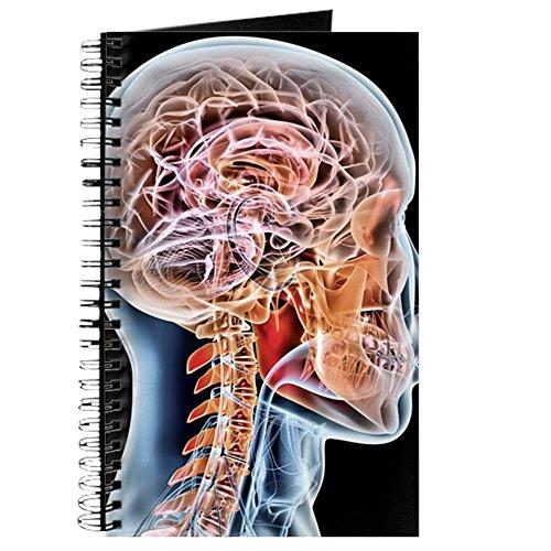 CafePress-interne Gehirn Anatomie, Artwork-Spiralbindung Journal Notizbuch, persönliches Tagebuch, blanko