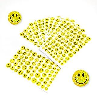 Oblique Unique® 620 x Smiley Sticker Aufkleber Glitzer Effekt Scrapbooking Deko Kinder Freude