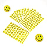 Oblique-Unique 620 x Smiley Sticker Aufkleber Glitzer Effekt Scrapbooking Deko Kinder Freude