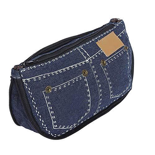 e723c0cddbc2 Xiang Cheng Shi Ding jeans di modo di modello della cassa di matita delle  ragazze dei ragazzi 2 trucco dei pc Penne Cosmetic Canvas Bag Coin Purse  Bag ...
