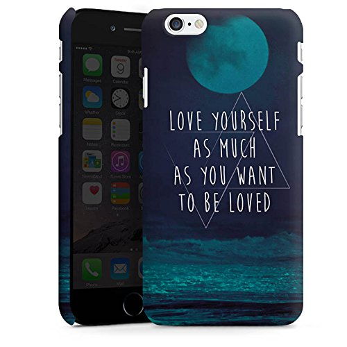 Apple iPhone X Silikon Hülle Case Schutzhülle Mond Ozean Statement Premium Case matt