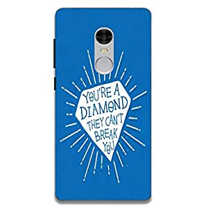 Youberry Designer Back Hard Cover for Xiaomi Redmi Note 4