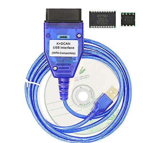 Cikuso Inpa K + Can Ftdi Ft232Rl Chip mit Schalter für BMW Scanner Inpa K Dcan USB Kabel OBD Obd2 Diagnose Schnittstelle