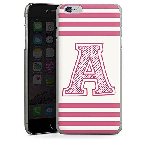 Apple iPhone X Silikon Hülle Case Schutzhülle College Buchstabe Namen Hard Case anthrazit-klar