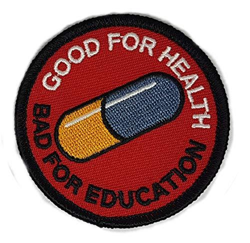 Akira Good For Health Bad For Education * Japanese * Anime * Emo * Punk *Scifi * Tactical * Morale 2.5' Patch * 100% Bordado * Calidad Superior