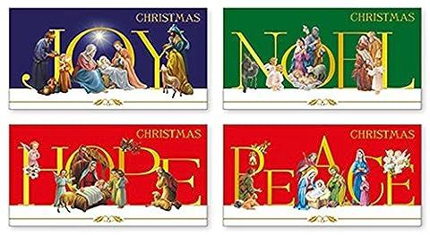 Cartes de Noël–18Catholique assortis de Noël Crèche de Noël Cartes