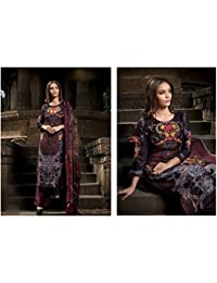 Rosaniya Un-stitched Good Quality PASHMINA Wool Embroided Patch, Self Printed, Digital Printed Kurta For Women...
