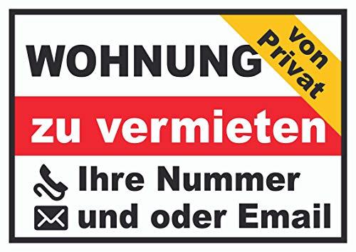 HB-Druck Wohnung zu vermieten von privat Schild A2 (420x594mm)