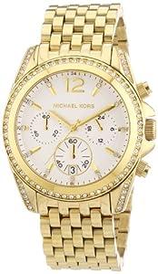 Michael Kors MK5835 - Reloj de cuarzo para mujer, con correa de acero inoxidable chapado, color dorado de Michael Kors